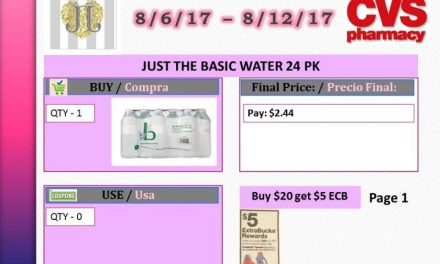 CVS: Just the Basic Water 24pk (starting 8/6/17)