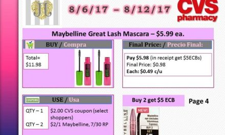 CVS: Maybelline Great Lash Mascara as low as $0.49 each (starting 8/6/17)