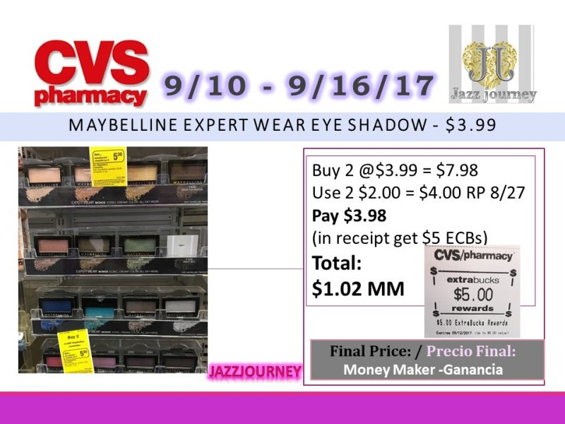 CVS: Maybelline (Possible MoneyMaker) Starting 9/10/17