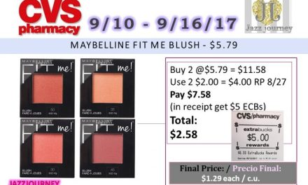 CVS: Maybelline Fit Me Blush (as low as $1.29) Starting 9/10/17