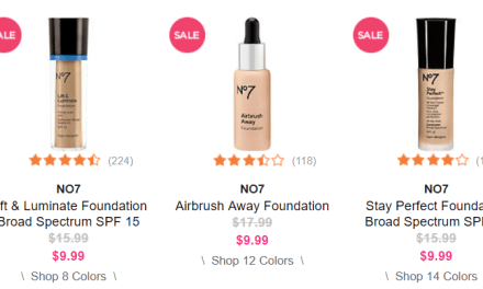 Ulta: No 7 Foundation $9.99 (reg $17.99)