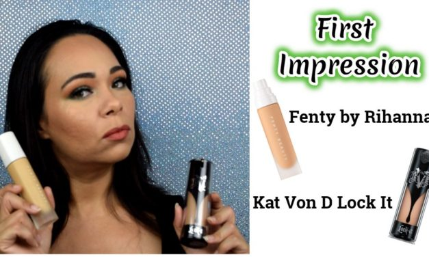 First Impression: Fenty Beauty & Kat Von D Lock It Demo & Review on Oily/Acne Skin