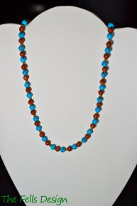 Goldstone and Turquoise necklace