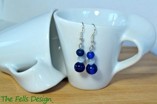Navy blue beaded earrings
