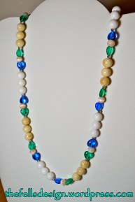Provincetown Necklace - czech glass beads in white, cream, blue, and green