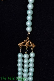 Antique findings repurposed with costume jewelry beads