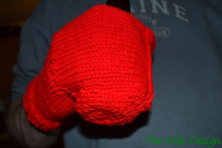 Red beer coozy mitten