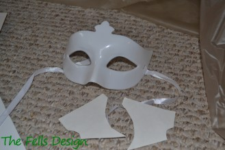Cut two identical pieces to create the lower mask.