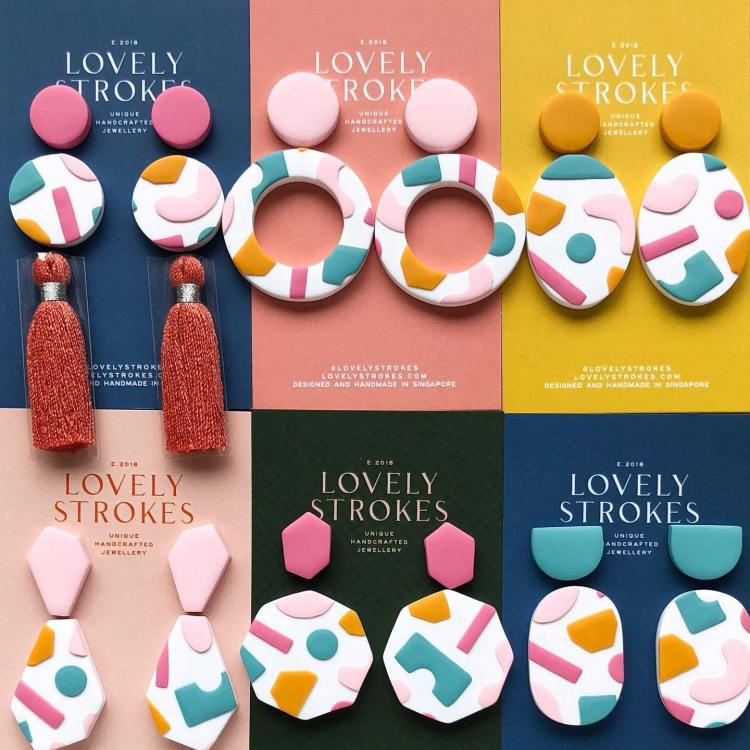 Lovelystrokes Merry Memphis 2.0 Earrings with abstract designs
