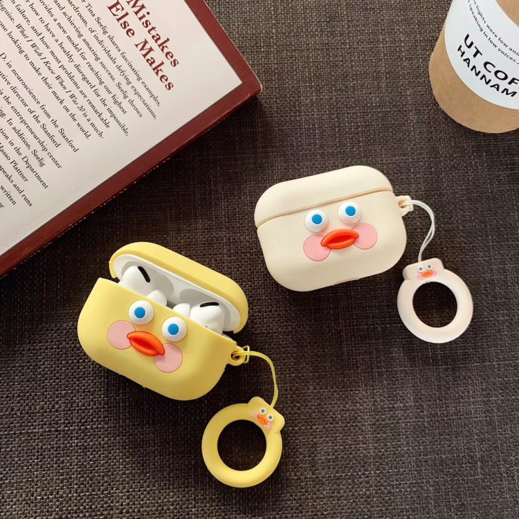 Cute Yellow and beige duck AirPods Pro case