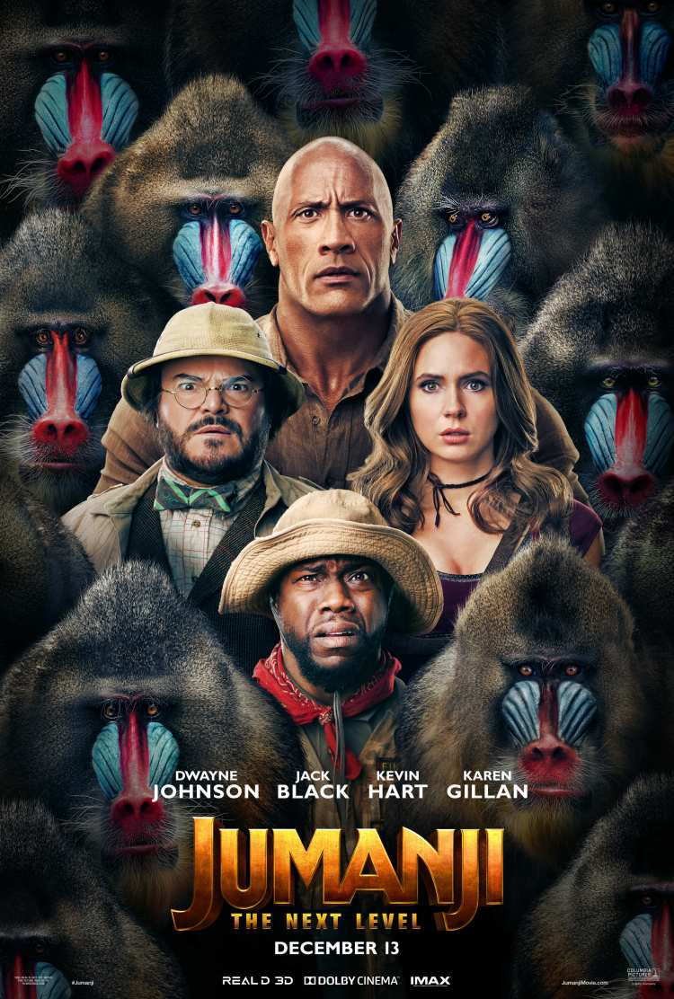 Official poster of Jumanji The Next Level