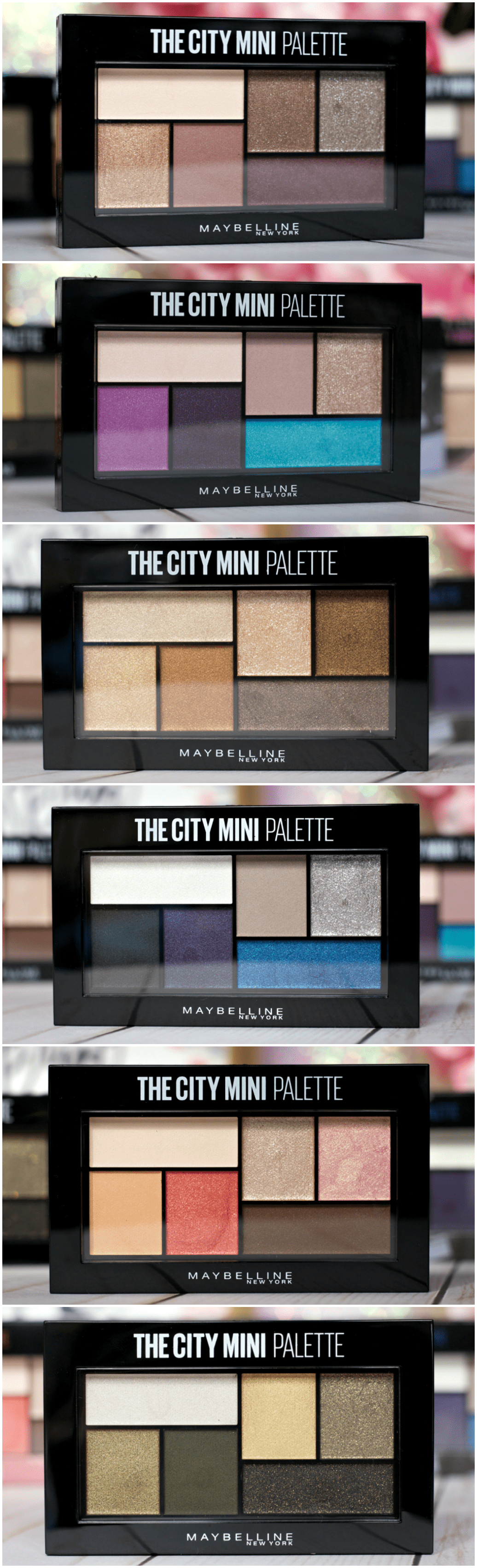 New Maybelline The City Mini Palettes