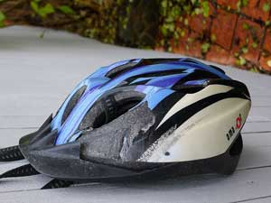 Damaged Bike Helmet
