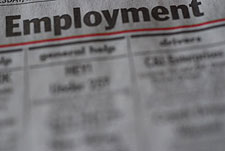 Employment Section in Newspaper