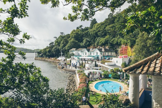 Festival No.6 boasts an outdoor swimming pool beside the Dwyryd estuary. Image credit: Andrew Whitton