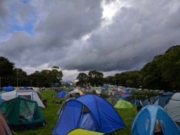 The family camping area was generally more sparsely populated than the rest of the site, although it did fill up slightly more than shown here