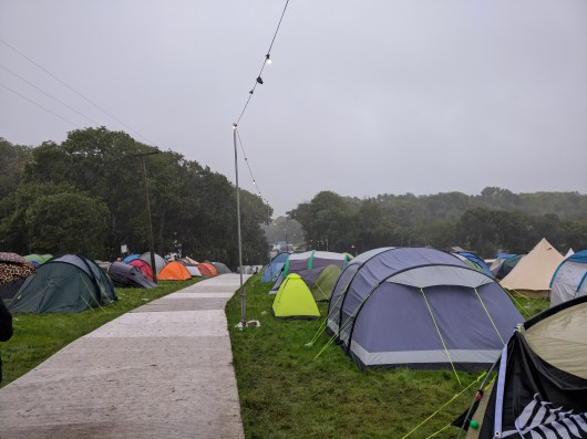 The occasional heavy shower lashed down on the festival