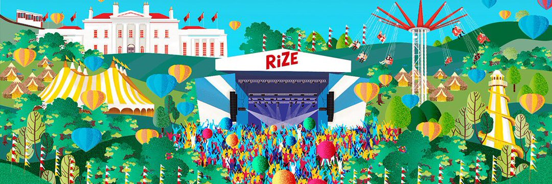 Banner artwork for New V Festival, RiZE Festival