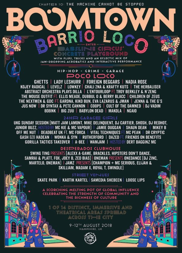 Boomtown Barrio Loco Line-up Poster