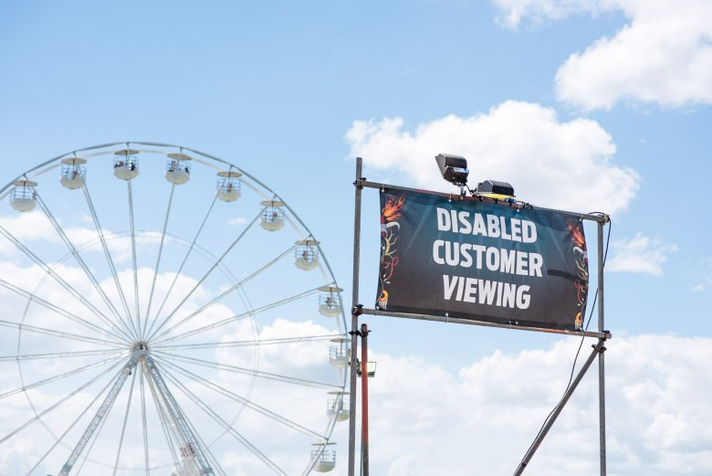 BSL Interpreters & ubiquitous disabled viewing platforms at Download 2018