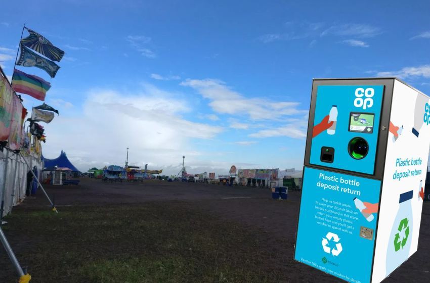 Co-op food stores coming to festivals this summer, with reverse plastic vending machines