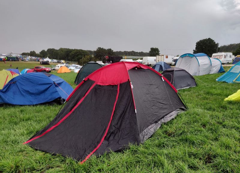 Argos Dome Tent at Boomtown in the Rain