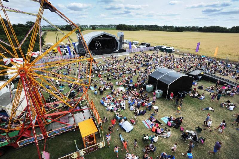 Truck Festival Aerial Image