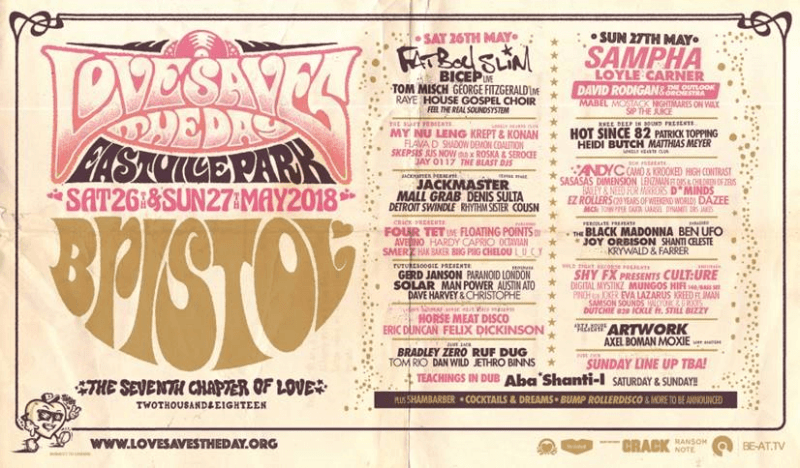 Love Saves The Day Ticket Line-up