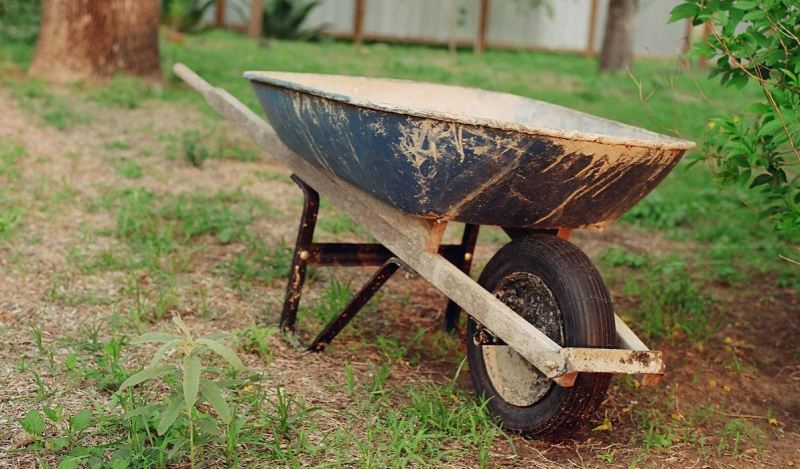 Wheelbarrow for festival stuff