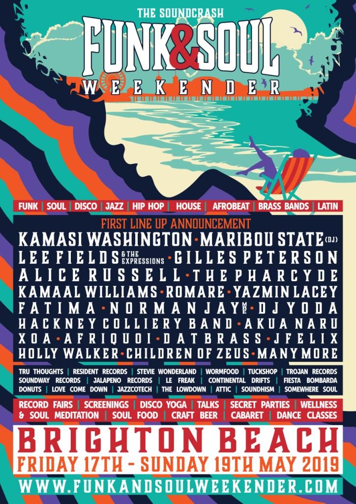 The Soundcrash Funk & Soul Weekender Line-up Poster