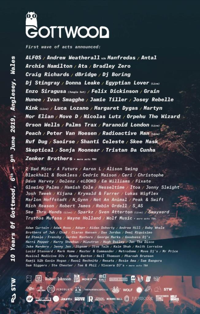 Gottwood 2019 Line-up Poster