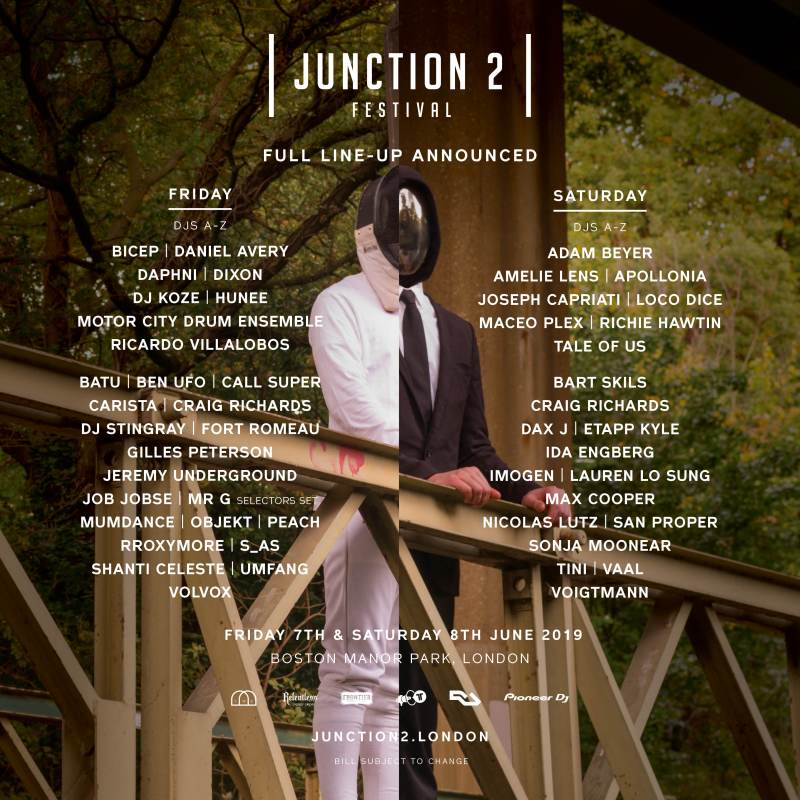 Junction 2 2019 Line-up Poster