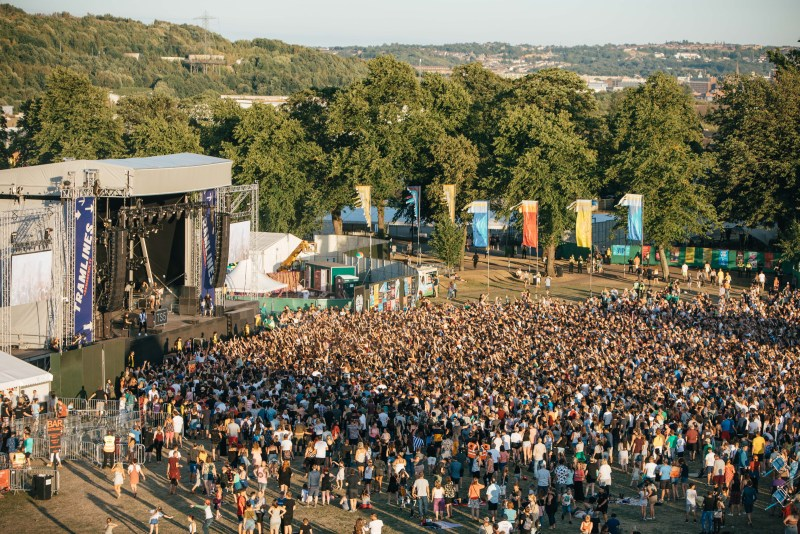 Tramlines 2018 Main Stage Crowd Aerial View