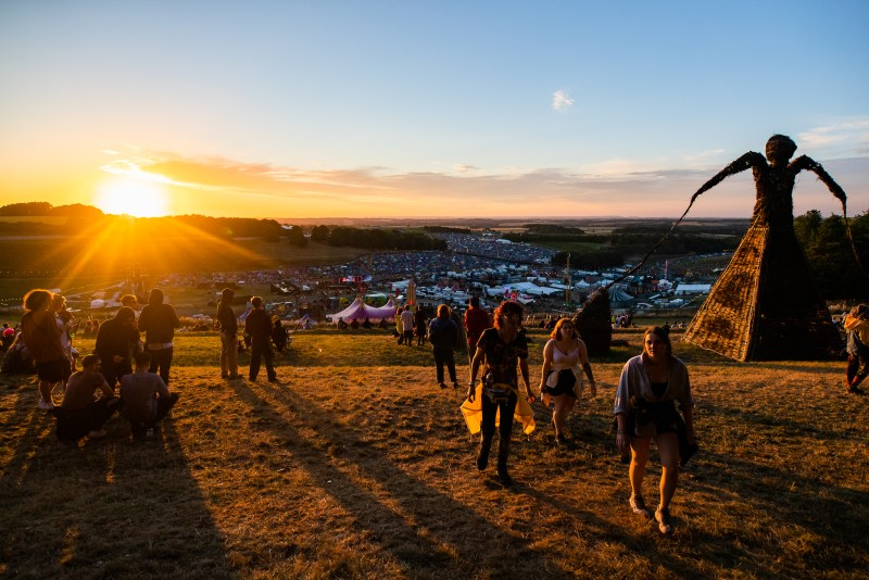 Boomtown Fair Whistlers Green Hilltop View Sunset