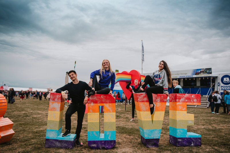 Victorious Festival Love Sign