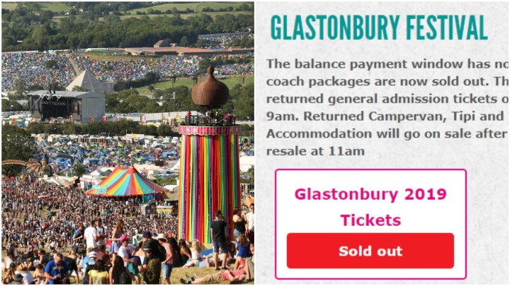 Glastonbury sold out header