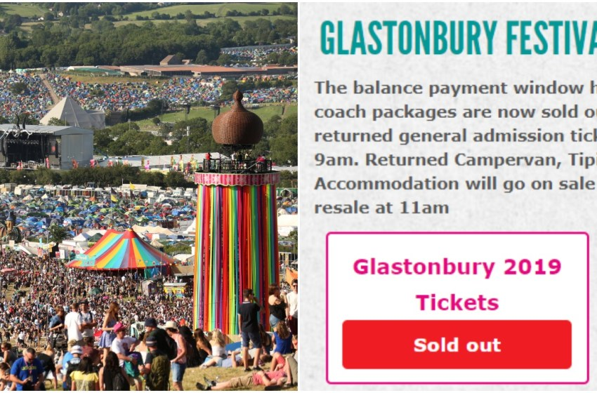 Glastonbury ticket resale: all tickets allocated in 7 minutes