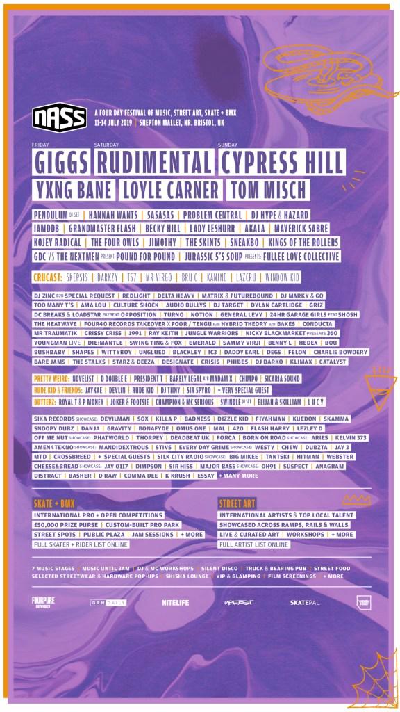 NASS longform line-up poster