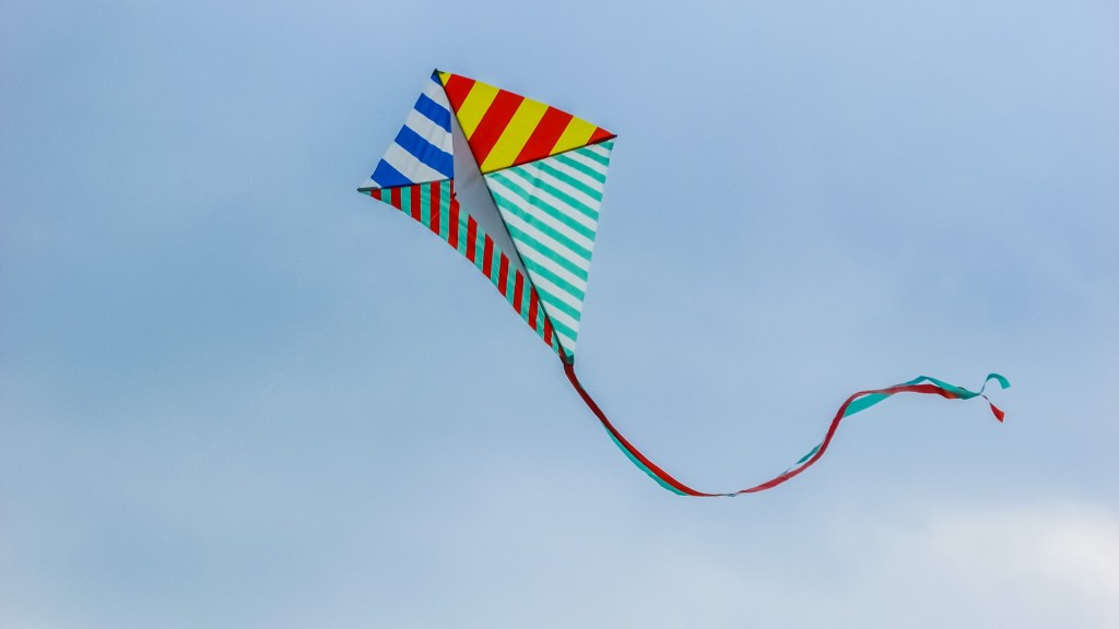 Make a kite out of tent canvas