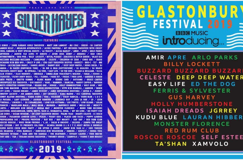 New Glastonbury line-up posters revealed for Silver Hayes & BBC Introducing