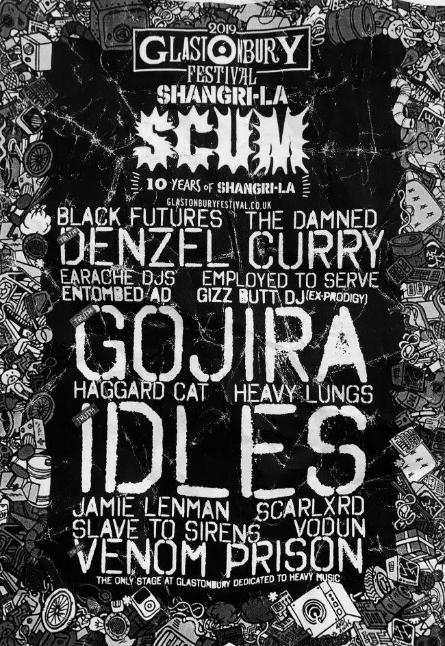 Glastonbury 2019 Scum Stage line-up poster