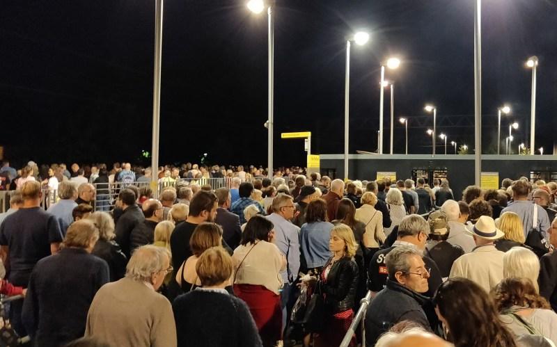 Metrolink queue after concert