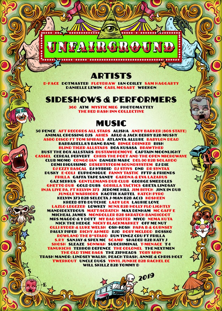 Glastonbury 2019 Unfairground line-up poster
