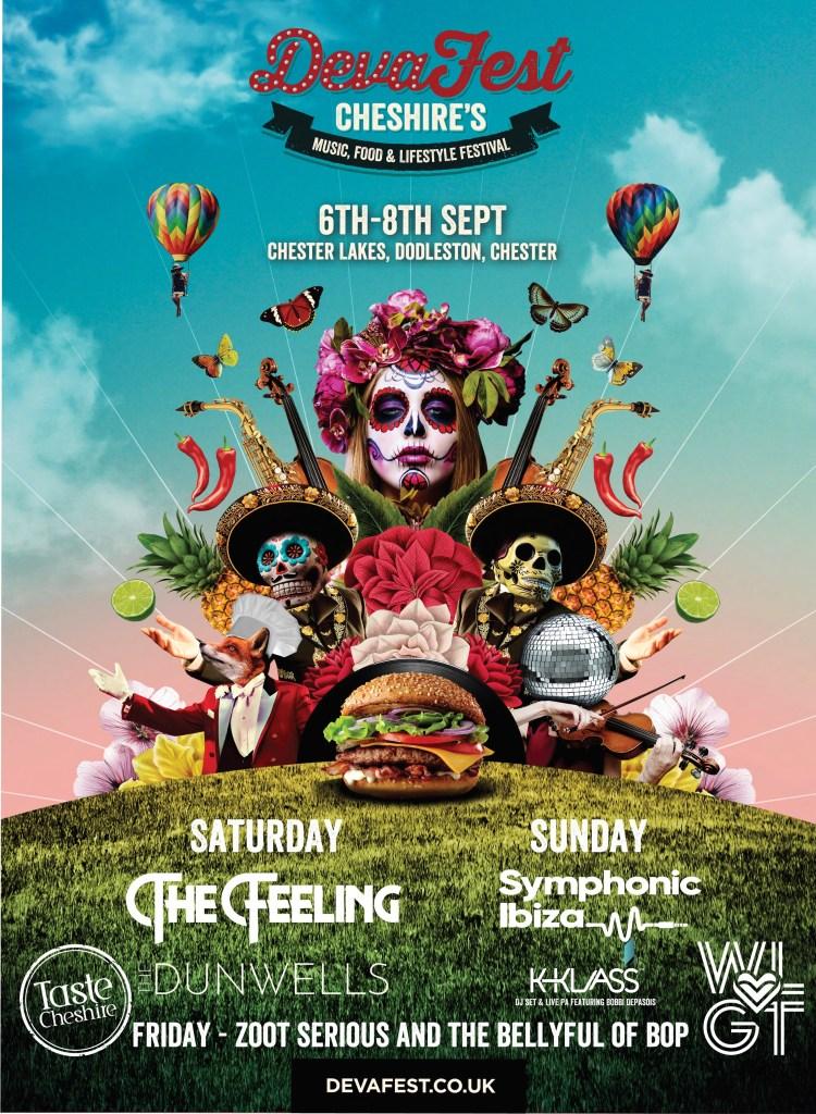 Deva Fest Chester 2019 line-up poster