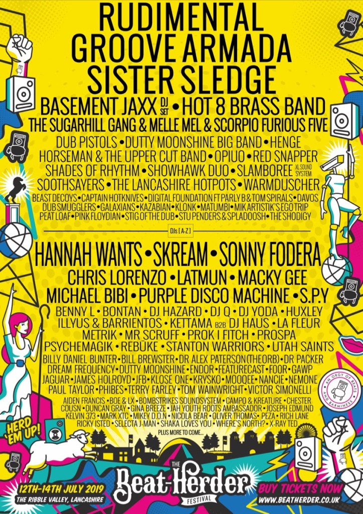 Latest Beat-herder 2019 line-up poster