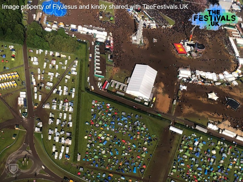 Download Festival 2019 Press Guest RIP Camping Aerial Photo