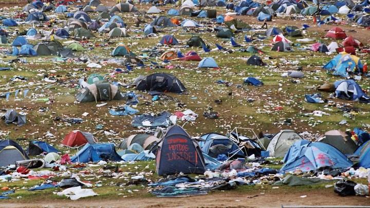 Festival Campsite Abandoned Tents Mess