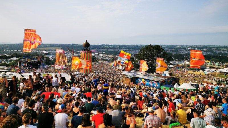 Foals crowd at The Park Glastonbury 2019