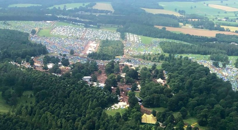 Kendal Calling Arena Aerial Photo