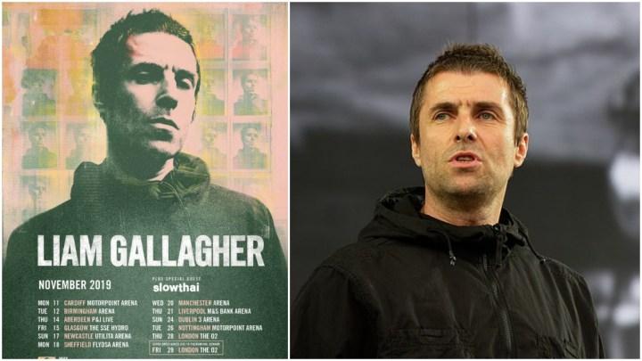 Liam Gallagher tour header